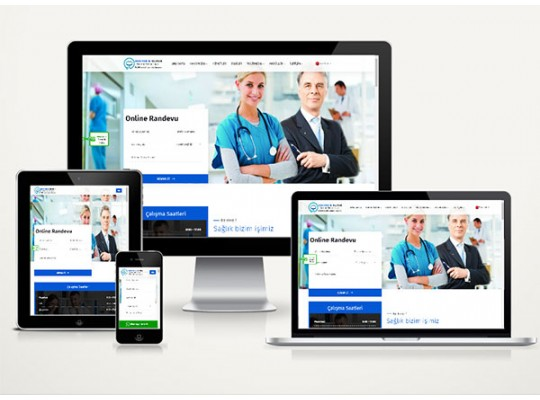 Doktor / Klinik Web Sitesi Paketi Line v4.0