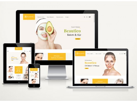 E-Ticaret Kozmetik Paketi Beauty v4.0